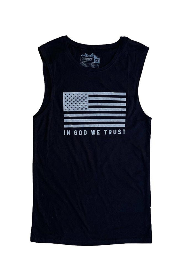 Mens In God We Trust Muscle Tank