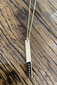 Chosen Vertical Skinny Bar Necklace