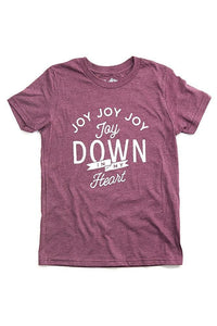 Toddler Joy Down In My Heart Maroon Tee