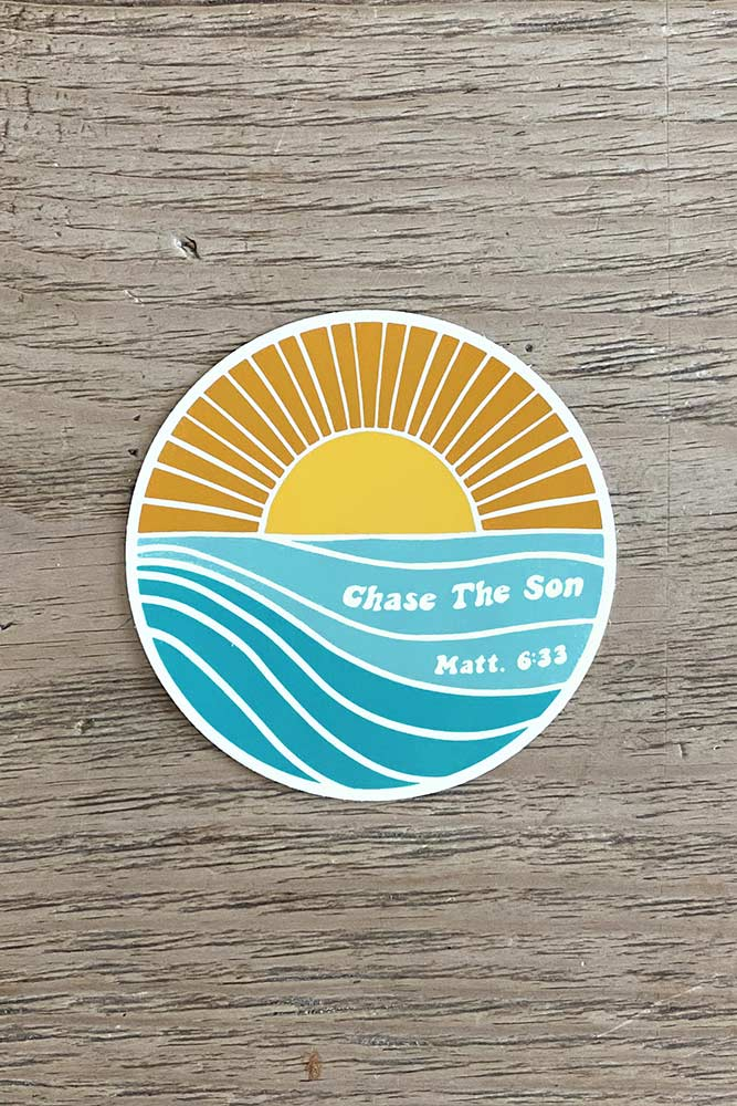 Chase The Son Sticker