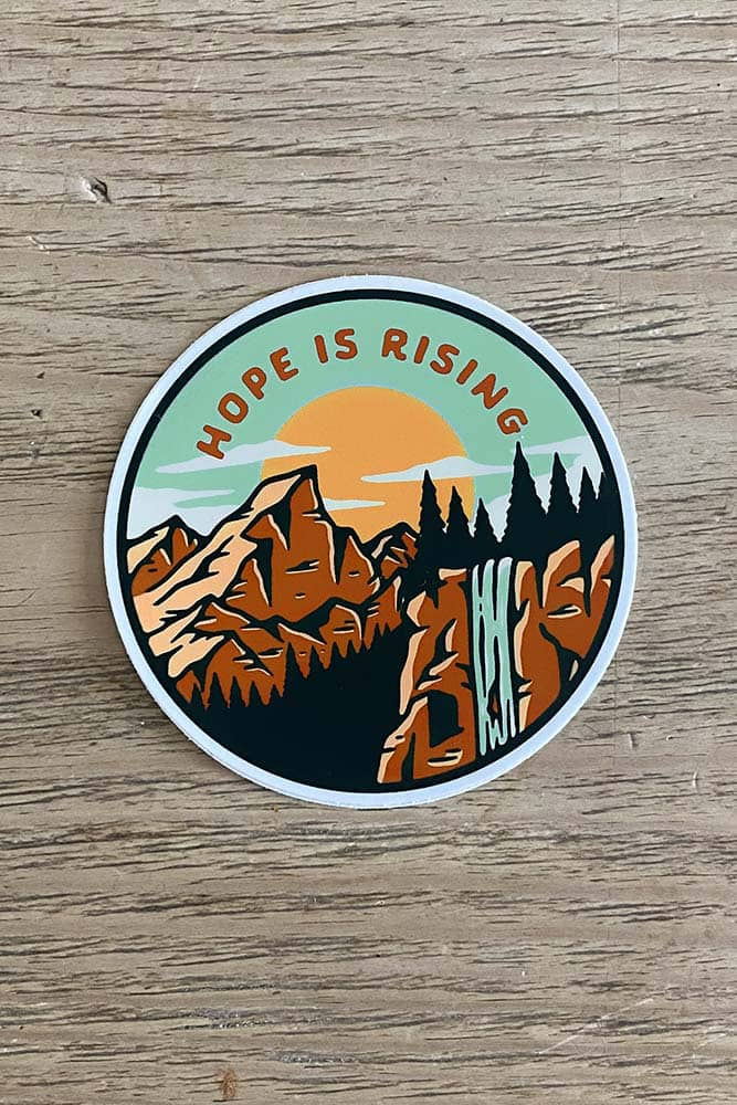 Hope is Rising Sticker