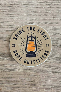 Shine The Light Sticker