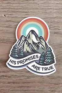 His Promises Are True Sticker
