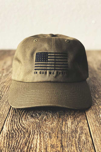 God We Trust Unstructured Hat