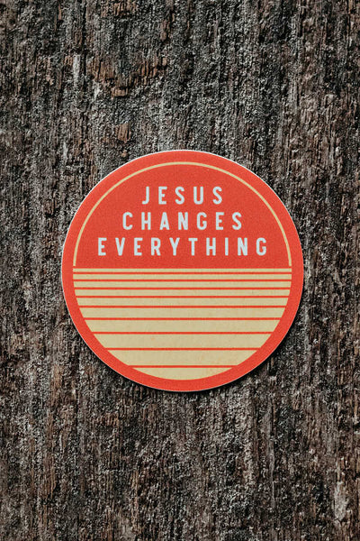 Jesus Changes Everything Sticker