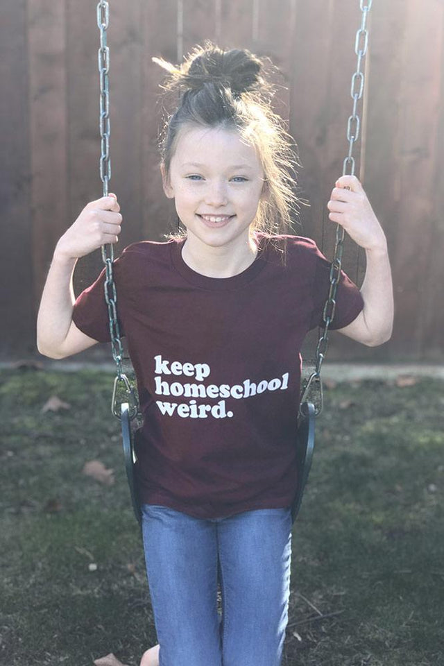 Youth Keep Homeschool Weird Tee