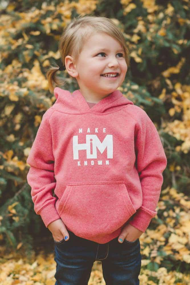 Pomegranate Toddler Make HiM Known Hoodie