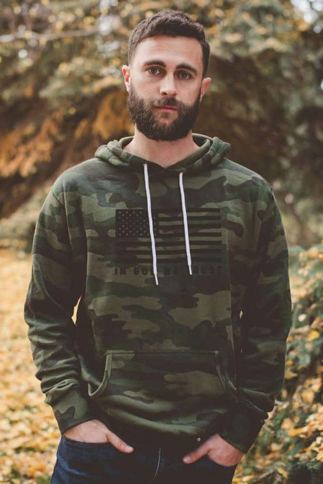 In God We Trust Camo Hoodie