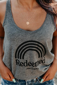 Womens Rainbow Redeemed Jersey Tank