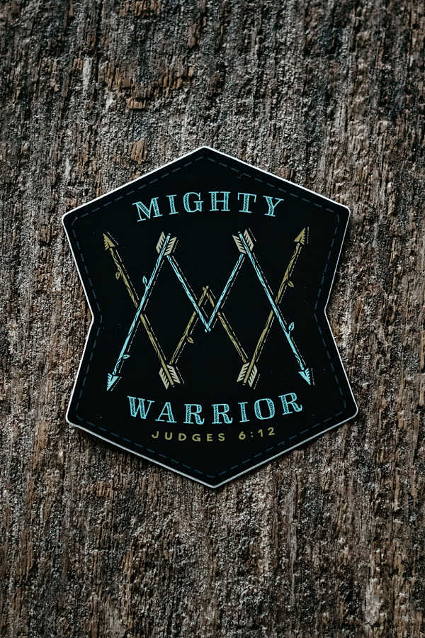 Mighty Warrior Sticker