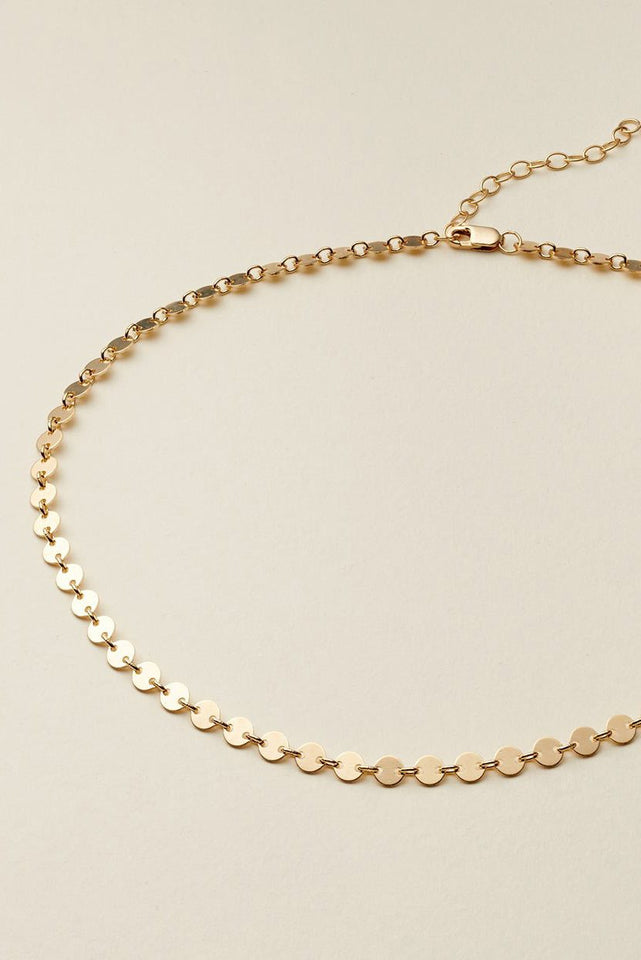 Mini Disc Choker Necklace