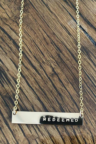 Redeemed Horizontal Bar Necklace