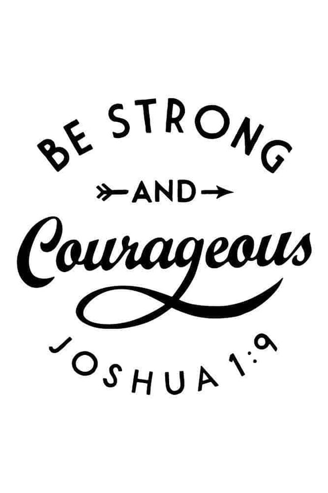 Be Strong & Courageous Maroon Longsleeve Tee