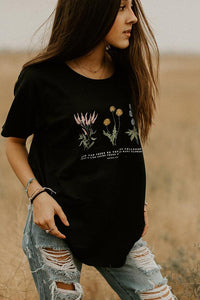 Womens Flowy Wildflower Tee
