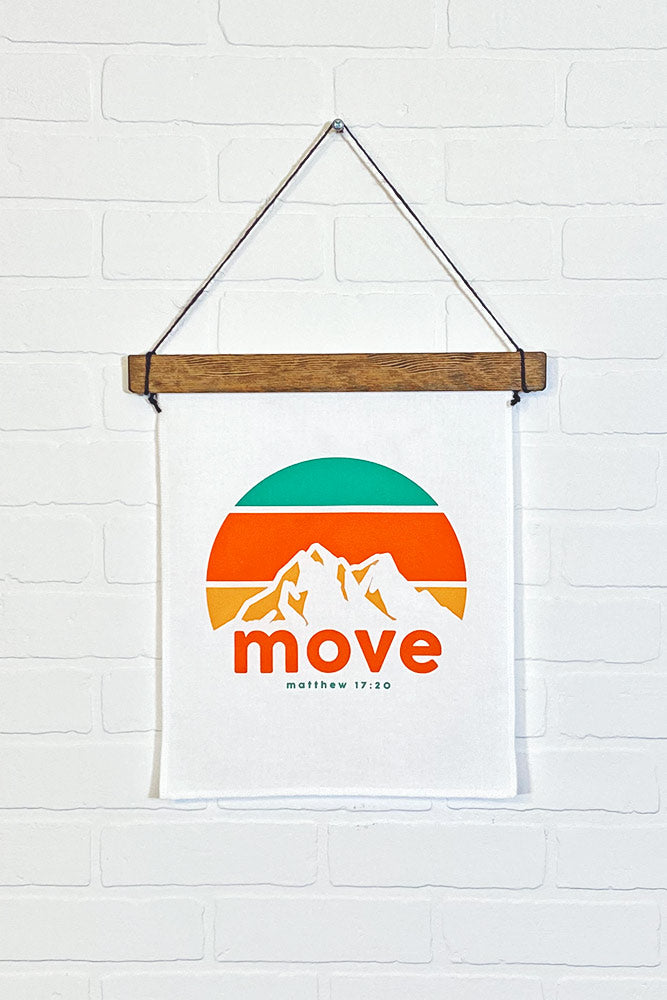 Move Mountains Canvas Wall Banner