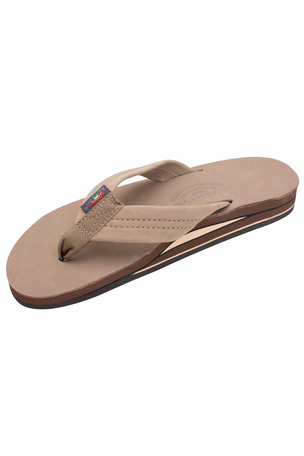Womens Rainbow Sandals Premier Double Dark Brown