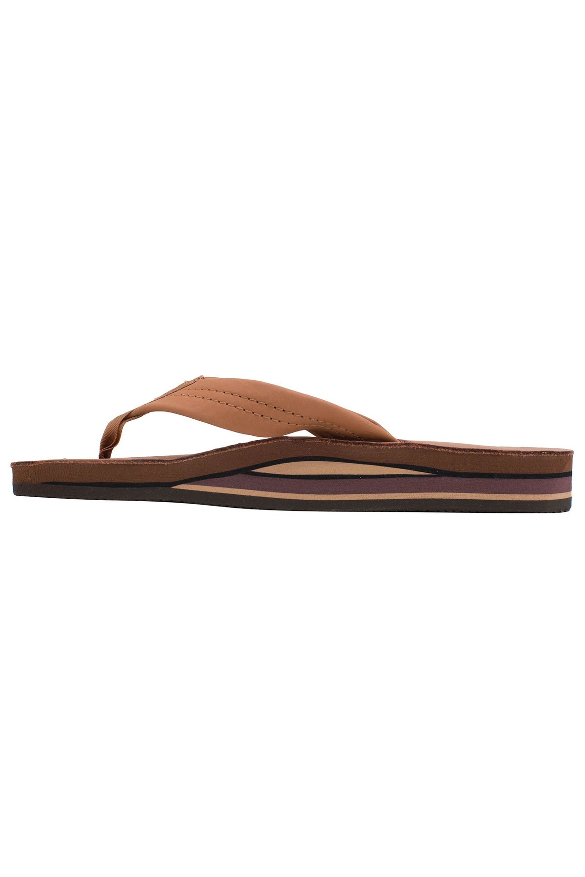 Womens Rainbow Sandals Classic Double Tan & Brown