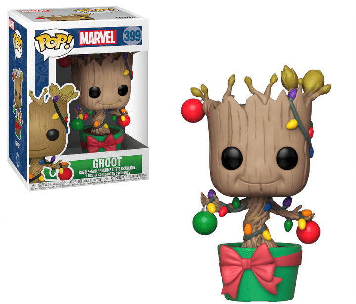 POP Marvel: Holiday - Groot (w/ Lights & Ornaments) #399