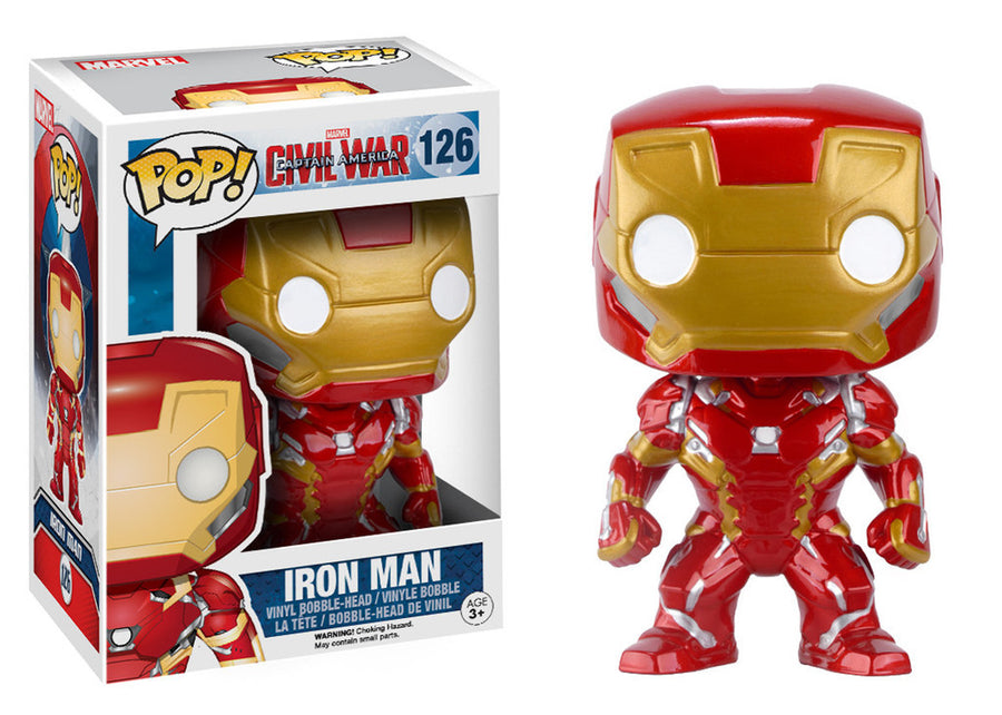POP Marvel: Civil War - Iron Man #126 - ColeccionablesMX