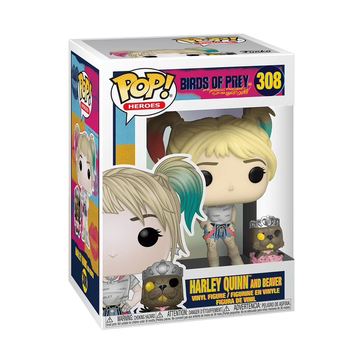 POP BIRDS OF PREY - HARLEY QUINN & BEAVER #308