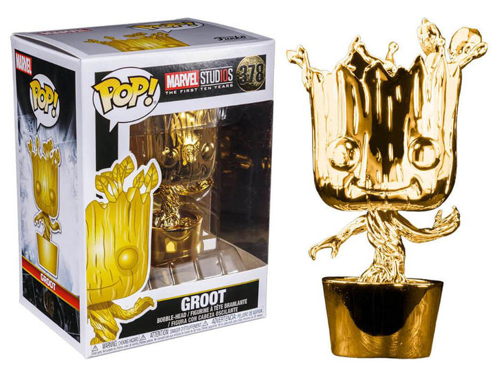 POP Marvel: MS 10 - Groot (Gold Chrome) #378