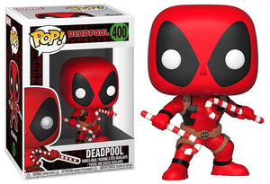 POP Marvel: Holiday - Deadpool (w/ Candy Canes) #400