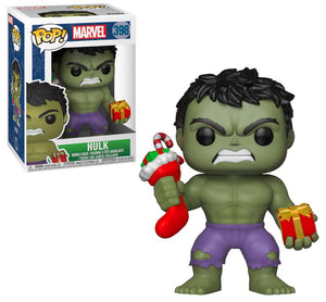 POP Marvel: Holiday - Hulk (w/ Stocking & Plush) #398