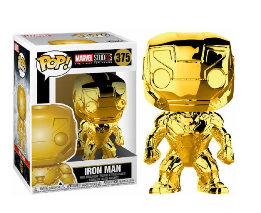 POP Marvel: MS 10 - Iron Man (Gold Chrome) #375