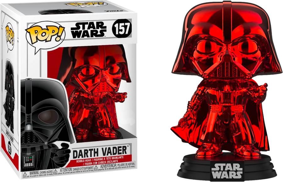 POP STAR WARS: Darth Vader Red Chrome Exclusivo Envío Gratis #157