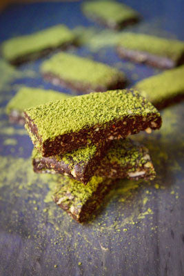 Dark Chocolate Matcha Bars - Matcha Recipe