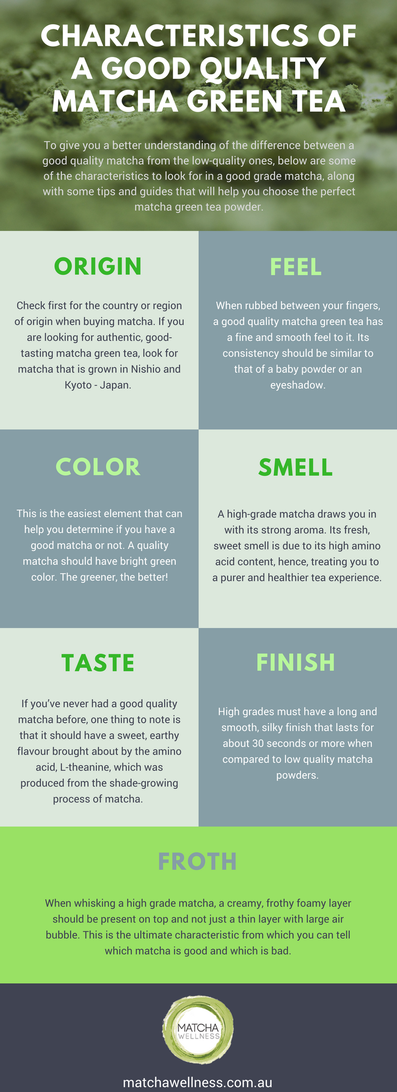 QUALITY MATCHA HOW TO TELL A GOOD MATCHA FROM A BAD ONE INFOGRAPHIC