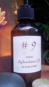 No. 9 Herbal Aphrodisiac Oil for body and bath 100ml/3.8oz