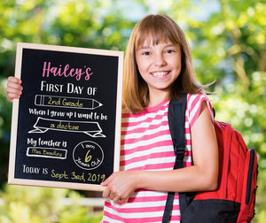 First Day of School Sign – Back To School Board – Last Day of School Sign Chalkboard