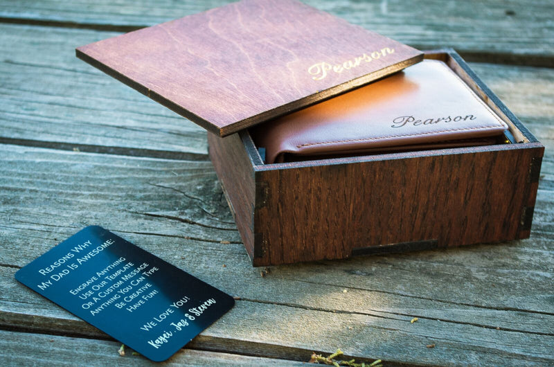FATHER'S DAY CARD KEEPSAKE, CUSTOM ENGRAVED WALLET CARD INSERT, PERSONALIZED NEW DAD GIFT, FIRST FATHERS DAY GIFT, FATHERS DAY MEMENTO