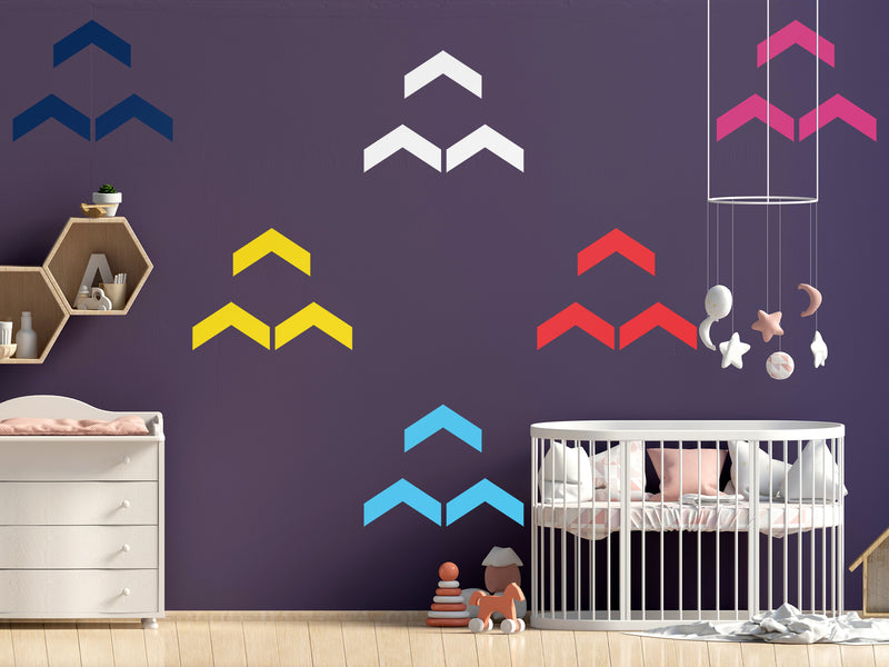 DIY CHEVRONS WALL DECALS - VINYL DECAL HOME DECOR - GOLD WALL STICKERS - REMOVABLE PEEL AND STICK CHEVRONS