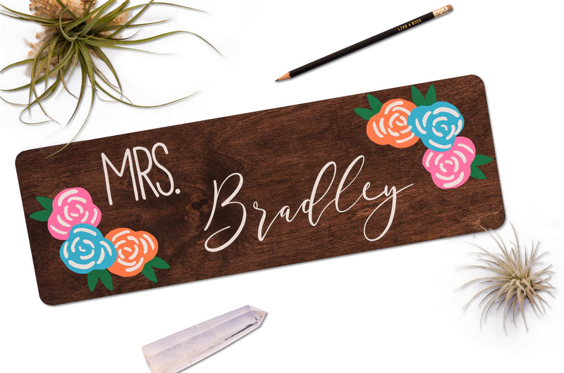 Teacher Name Sign- Personalized Teacher Sign for Door - Teacher Classroom Signs - Gifts for Teachers