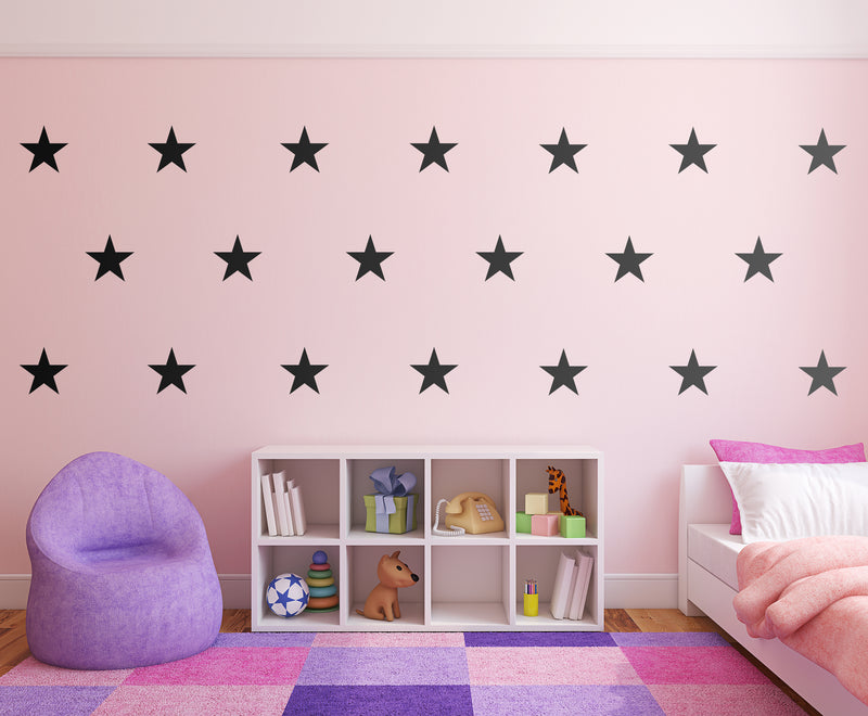 DIY STARS WALL DECALS - VINYL DECAL HOME DECOR - GOLD WALL STICKERS - REMOVABLE PEEL AND STICK STARS