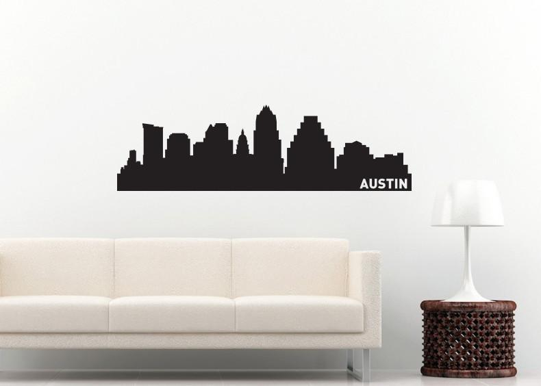 Austin Texas Skyline Vinyl Wall Decal