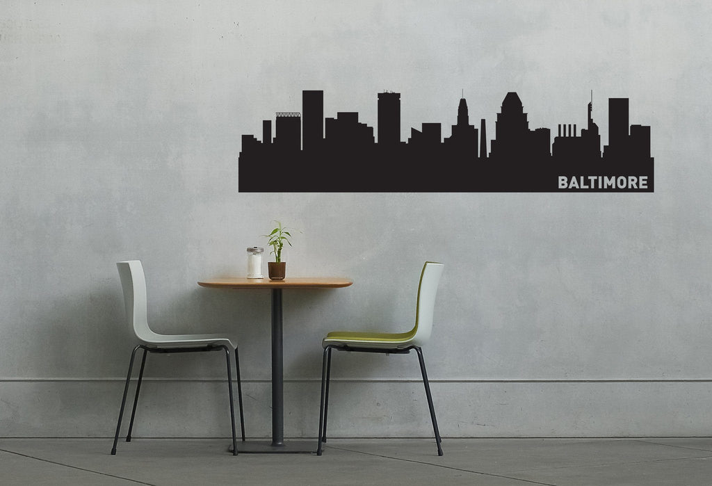 Baltimore Maryland Skyline Vinyl Wall Decal