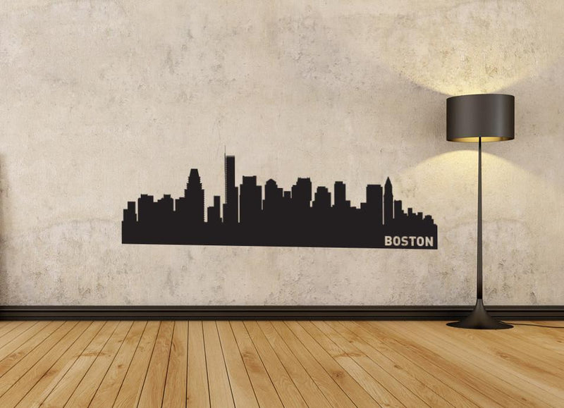Boston Massachusetts Skyline Vinyl Wall Decal
