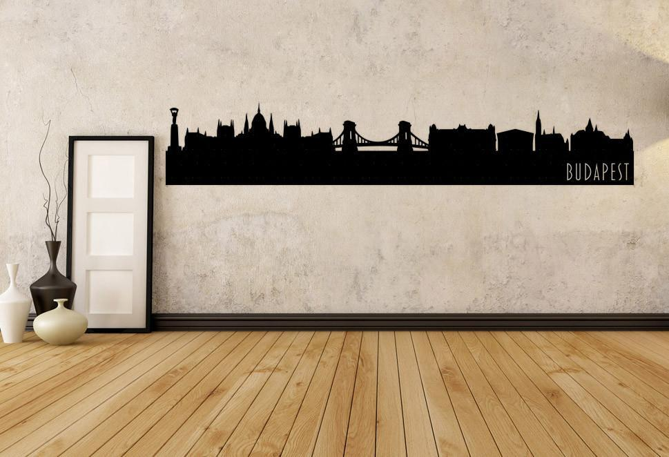 Budapest Hungary Skyline Vinyl Wall Decal