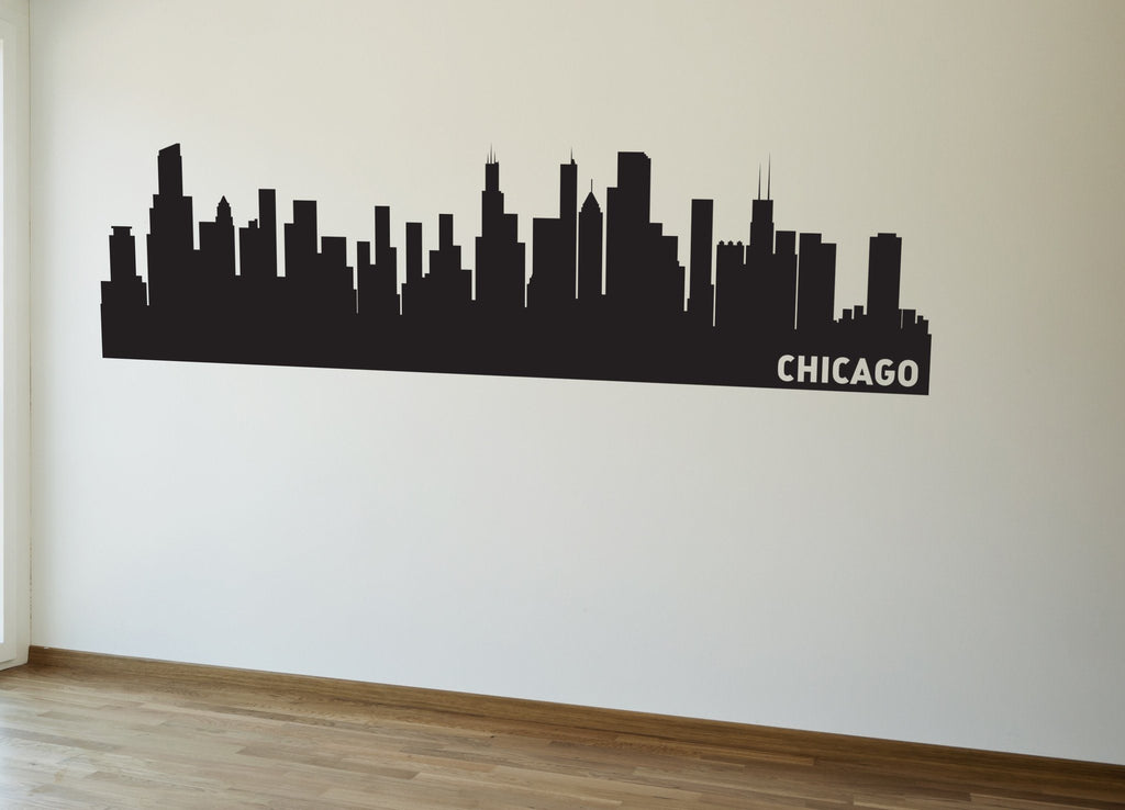 Chicago Illinois Skyline Vinyl Wall Decal