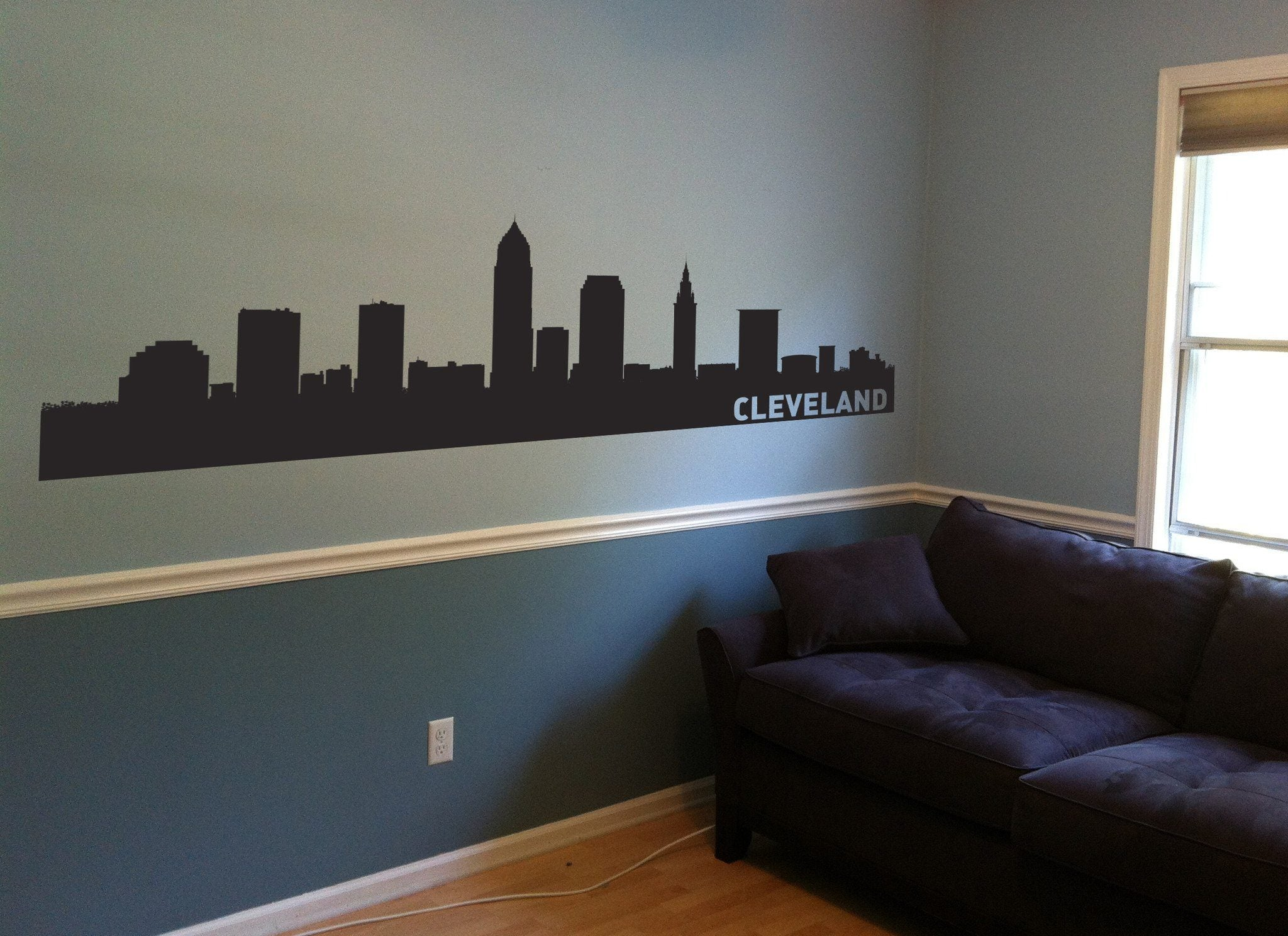 Cleveland Ohio Skyline Vinyl Wall Decal The Personalized Gift Co - Custom vinyl decals cleveland ohio