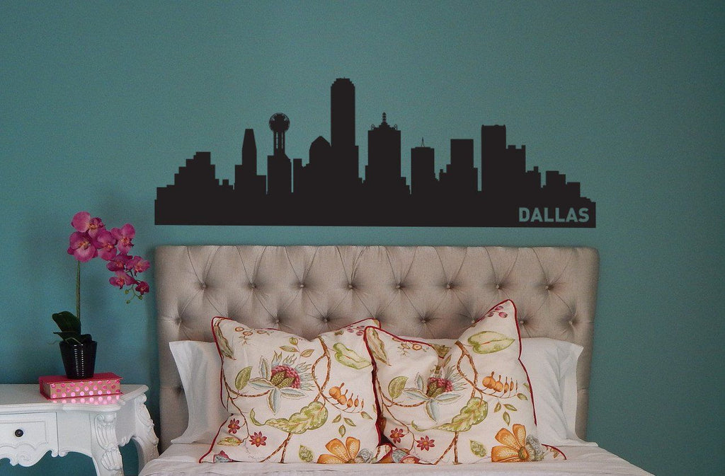 Dallas Texas Skyline Vinyl Wall Decal