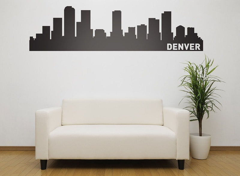 Denver Skyline Vinyl Wall Decal - The Personalized Gift Co. - Decals, Stickers & Vinyl Art