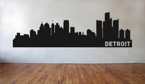 Detroit Michigan Skyline Vinyl Wall Decal
