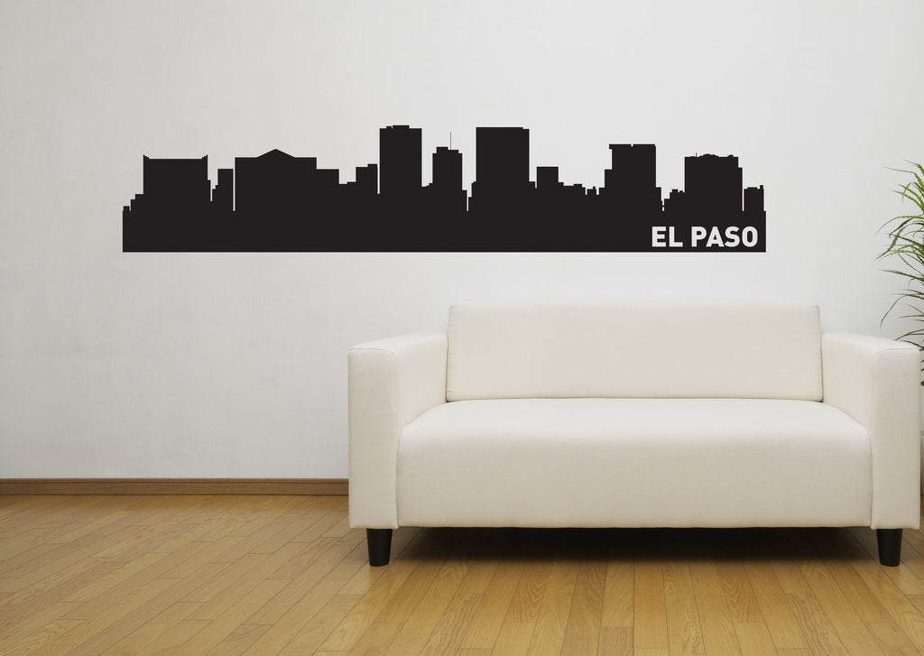 El Paso Texas Skyline Vinyl Wall Decal