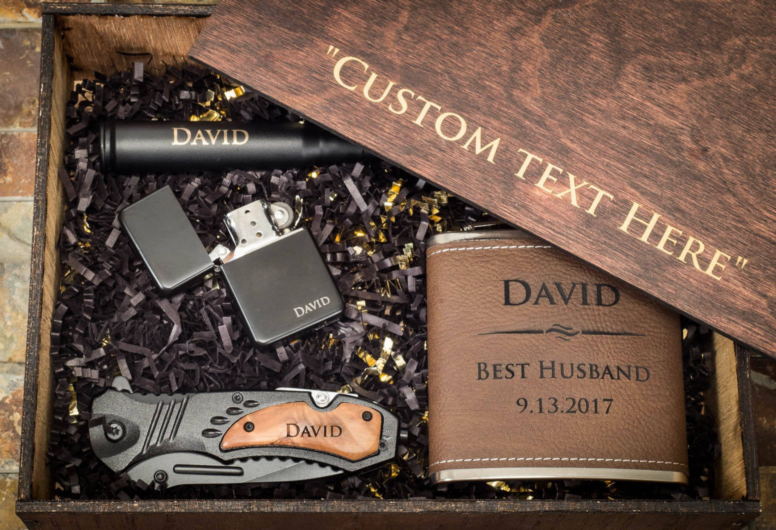 Gift for Husband, Husband Gift Box, Gift for Him, Husband Gift Set, Husband Box, Personalized Boyfriend Gift, Engraved Wooden Husband Box