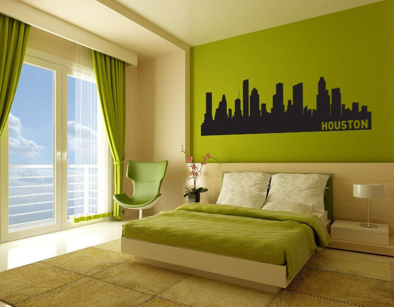 Houston Texas Skyline Vinyl Wall Decal