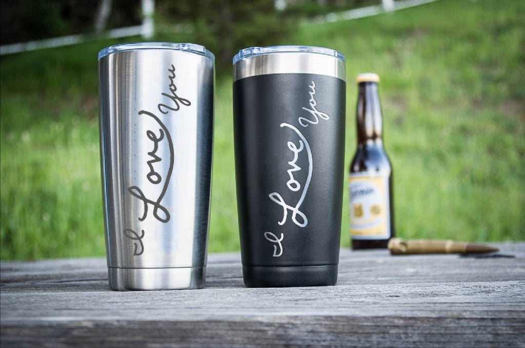Engraved Handwriting Tumbler Cup, Insulated Travel Mug, Personalized Mug, Boyfriend or Girlfriend, Gifts for Her, Valentines Day and More